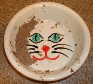 Melia Luxury Pet Cat Bowl with Canned Food In It