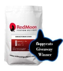 Winner of Gobble! Gobble! Floppycats.com Extra Giveaway: Free 7lb. Bag Of RedMoon Custom Pet Food!