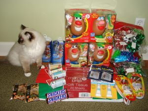 Charlie with my haul in late December 2009