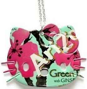 Recycled Soda Can Arizona Tea Hello Kitty Necklace