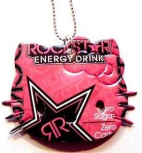 Recycled Soda Can Pink Rockstar Hello Kitty Necklace $7.50