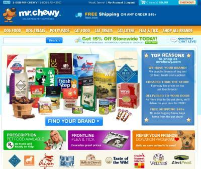 Mr Chewy Home page