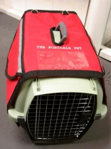 The Portable Pet on carrier