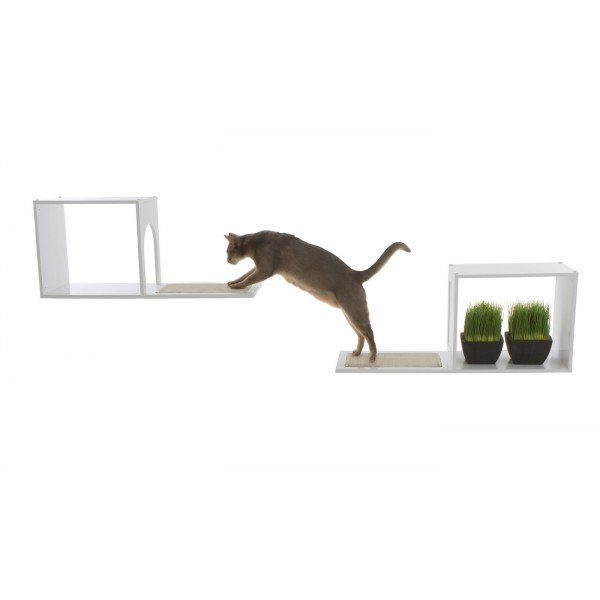 chic cat furniture aesthetically sleek chic wall mounted cat tree