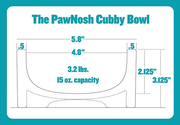 PawNosh Cubby Glass Pet Bowl