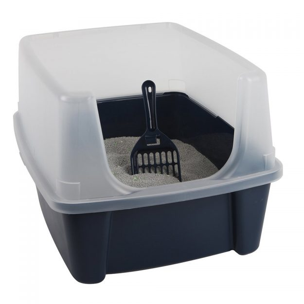 iris open top litter box with shield and scoop - Litter Boxes