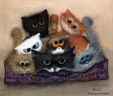 "'Chocolate Box Fiendish Felines' ~ Size: 13x11"""