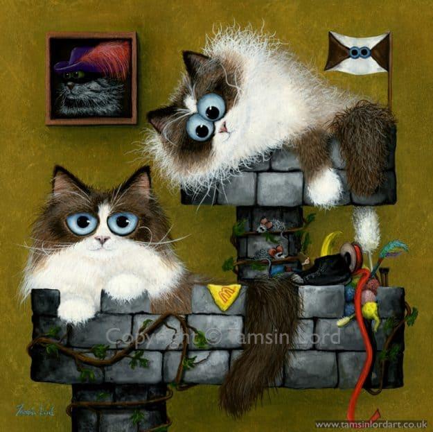 """'Castle Cat Burglars' Commission 10""""x10"""""""