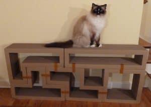 Katris Modular Cardboard Cat Scratcher Furniture Review by Floppycats2