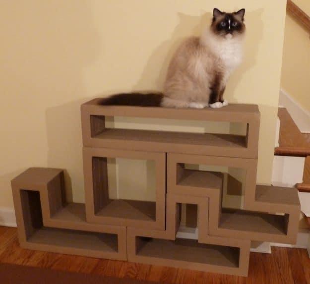 Katris Modular Cardboard Cat Scratcher Furniture Review by Floppycats4