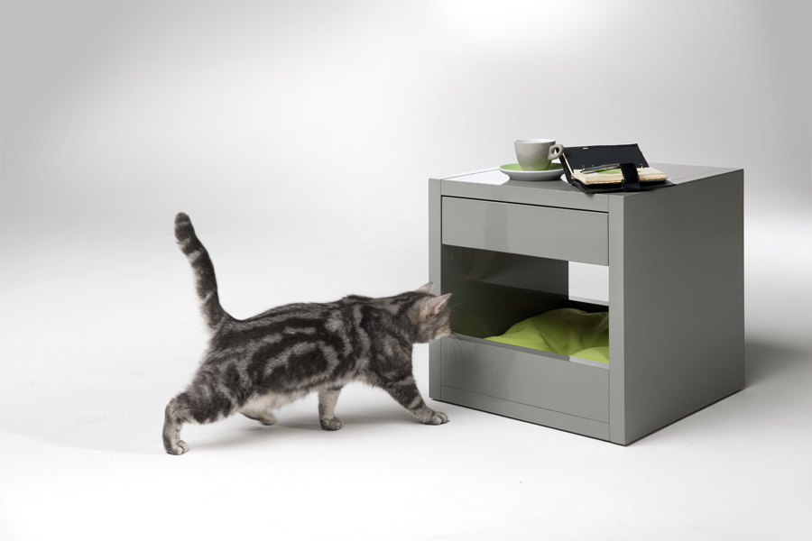 Cat Bed Side Table: The Bloq by Binq Design