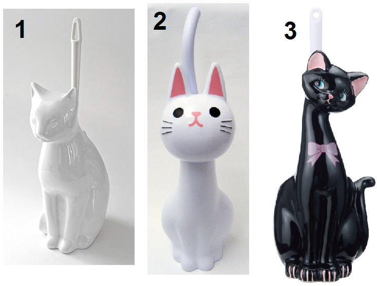 Cat Shaped Toilet Bowl Cleaner Holders