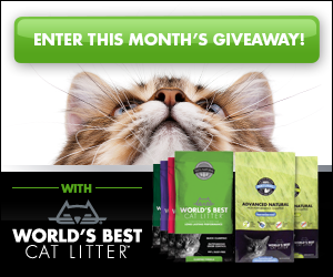 April 2015 Floppycats.com Giveaway: 3-Month Supply of World's Best Cat Litter