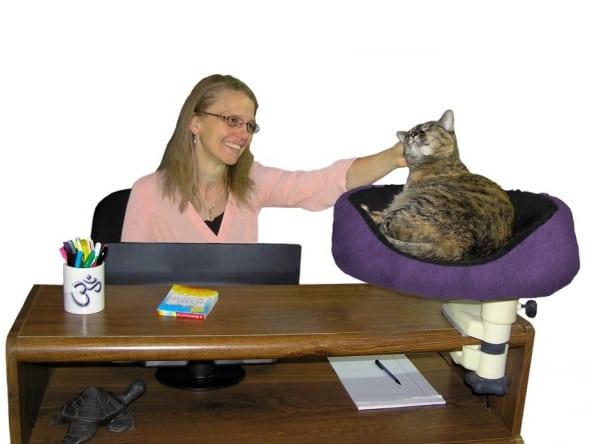 Desk Nest A Unique Desktop Cat Bed 3