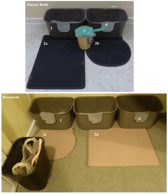 best cat litter box setup floppycats master bath and basement