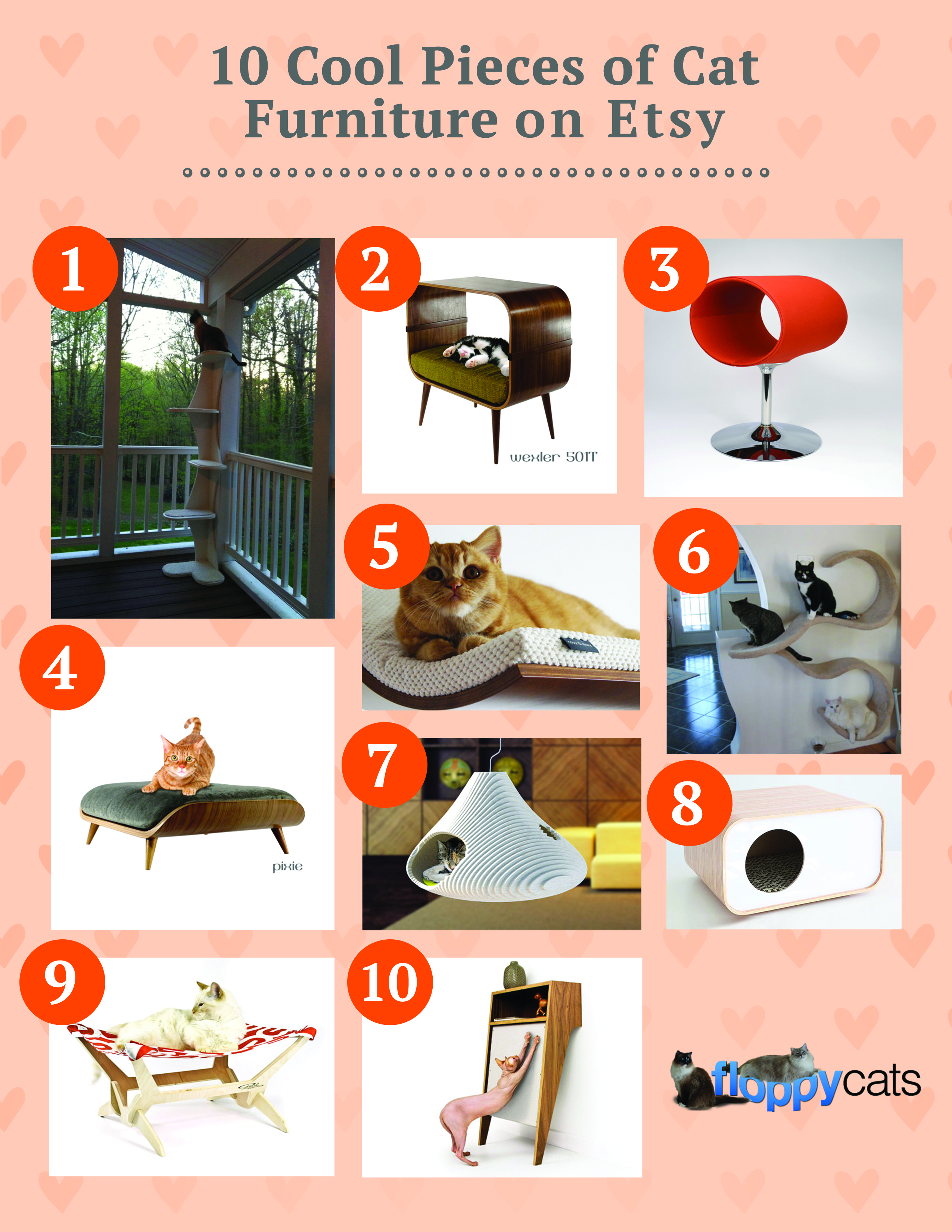 10 Cool Pieces of Cat Furniture on Etsy