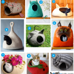 9 Fun Felted Cat Cave Beds on Etsy