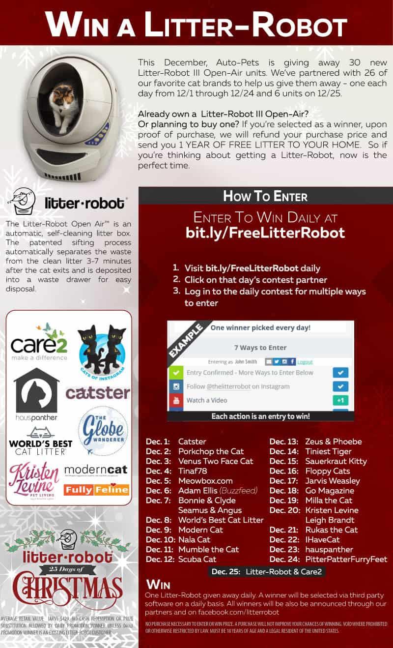 Litter Robot Open Air December 2015 Giveaway