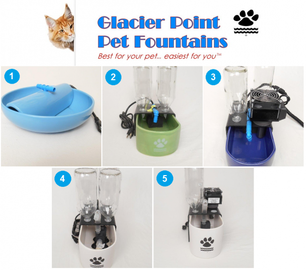 Glacier Point Pet Fountains - Fountains Available for Purchase