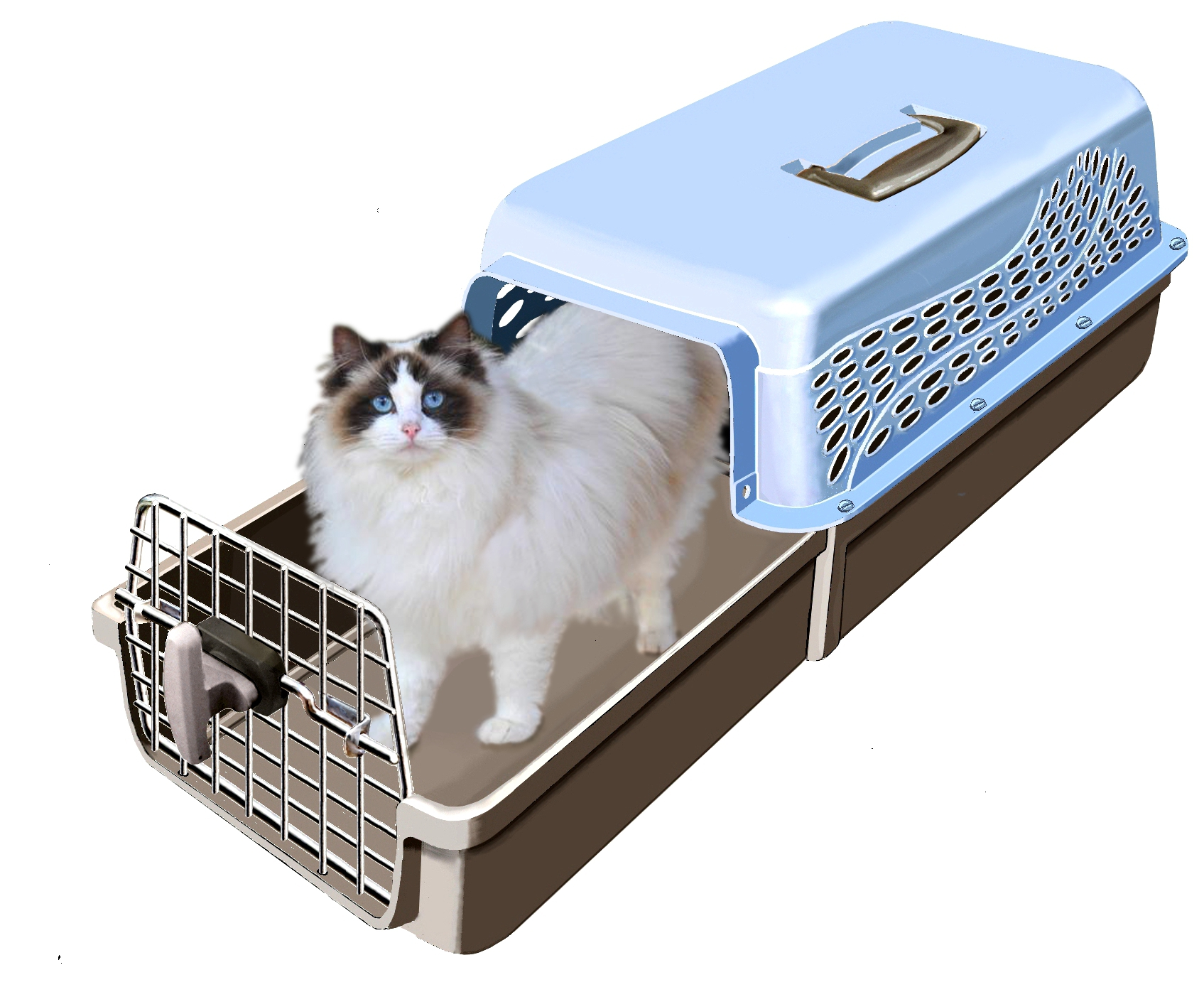 MagiCarrier by K-Kat A Cat Carrier That Makes It Easy to Get the Cat In ragdoll