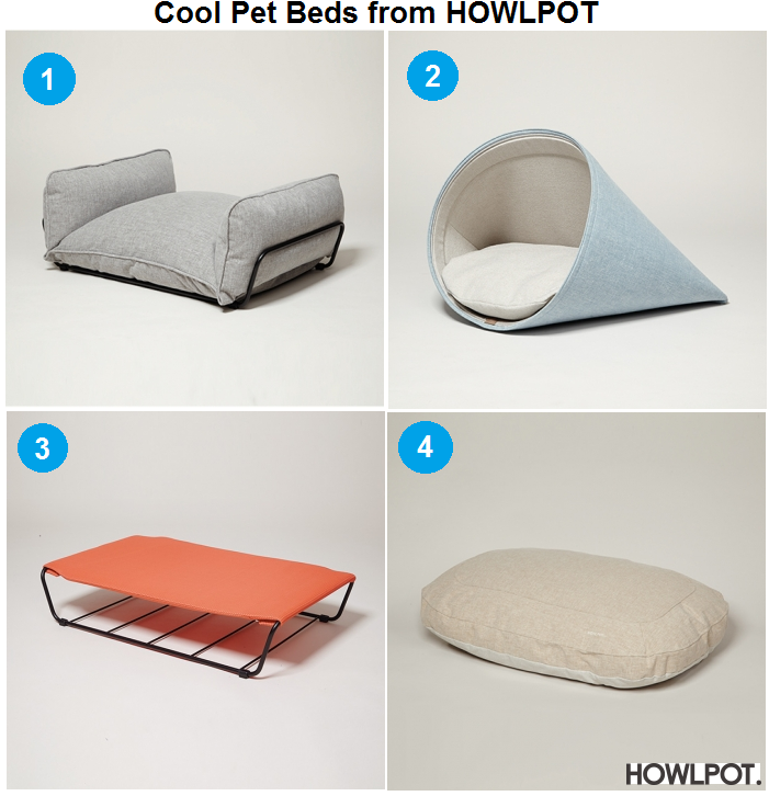 Cool Pet Beds from Howlpot