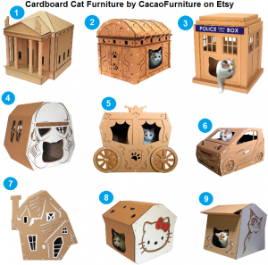 Cardboard Cat Furniture by CacaoFurniture on Etsy