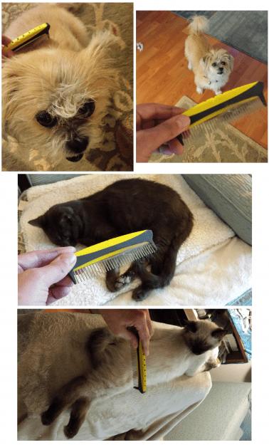 JW Pet Company 5-Inch Gripsoft Rotating Comfort Comb 1