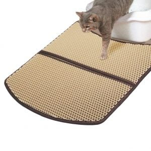 WooPet Cat Litter Mat Large Scatter Control Kitty Litter Mats for Cats Tracking Litter Out of Litter Box