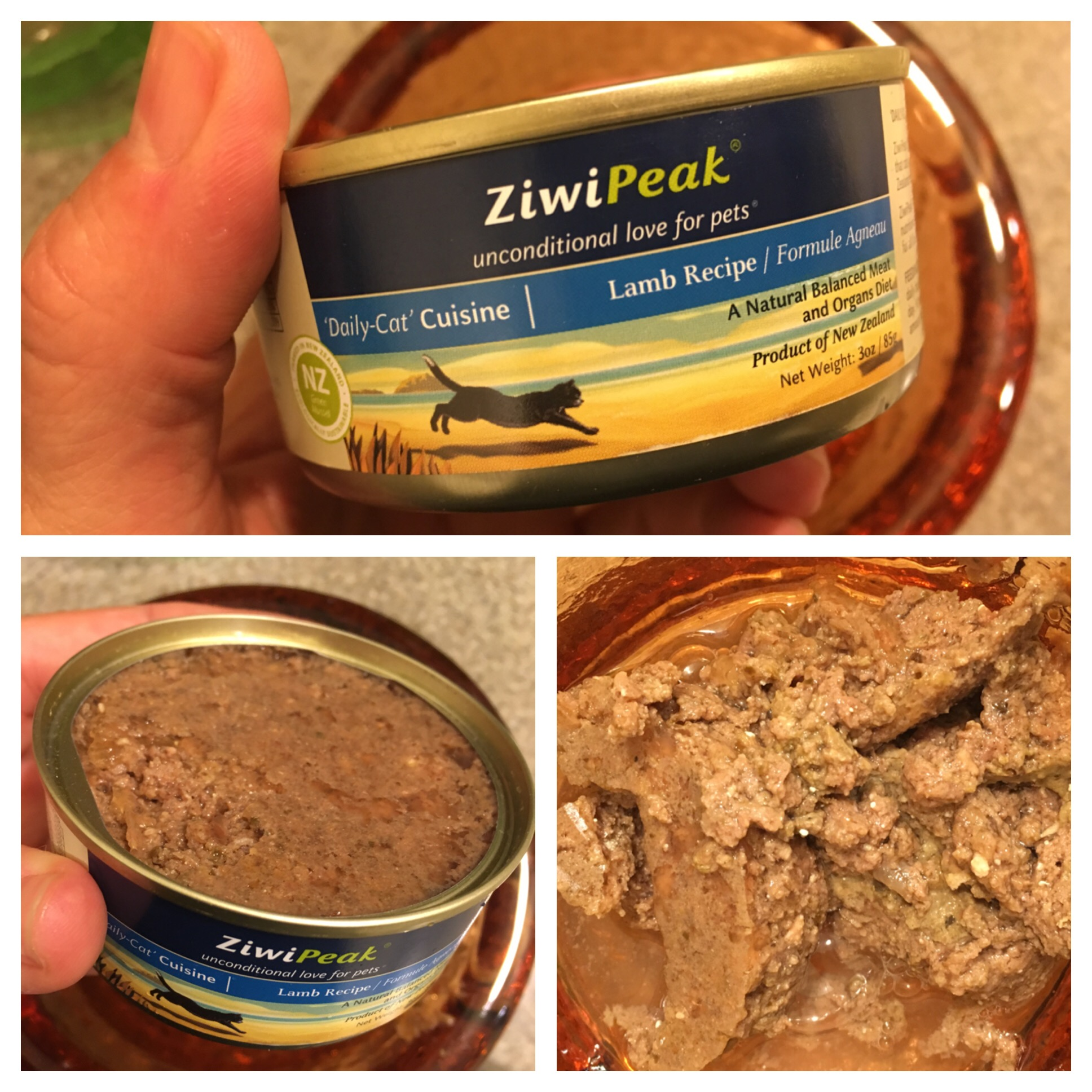 Ziwi Peak Canned Cat Food Lamp Recipe Inside of Can