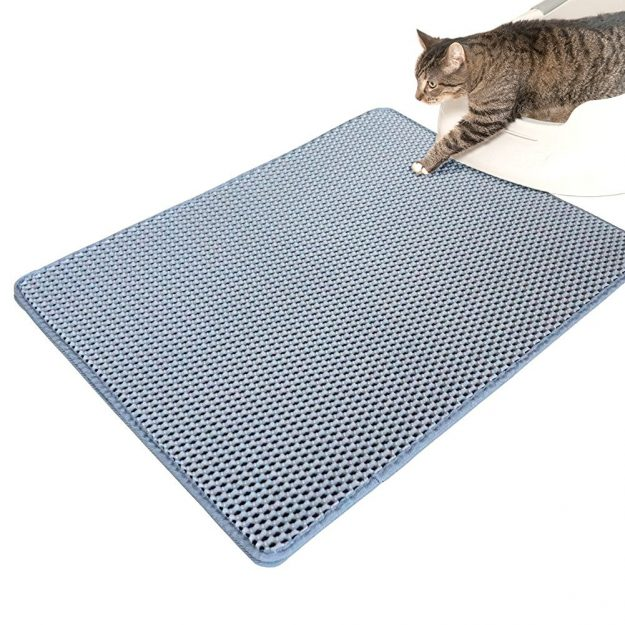 WooPet! Cat Litter Mat Large 24 x 22, Scatter Control Kitty Litter Mats for Cats Tracking Litter Out of Litter Box