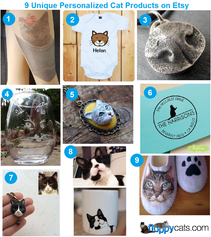 9 Unique Personalized Cat Products on Etsy