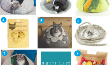 Introducing Mimis Daughters Unique Handmade Australian Cat Caves - Cat Dog Toys Felted Cat Caves