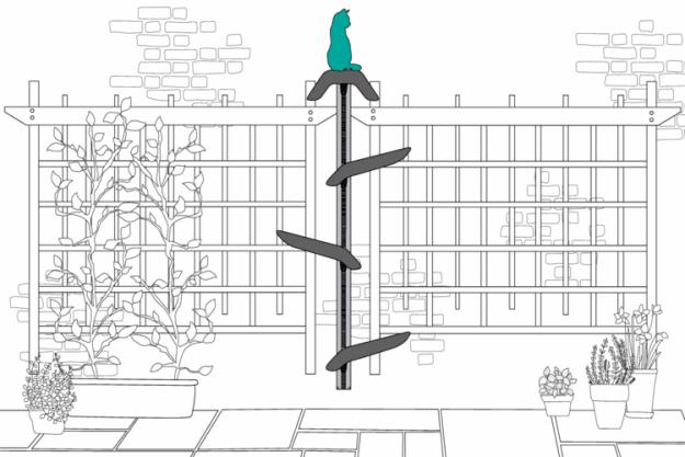 Catipilla Modular Cat Climbing System outside