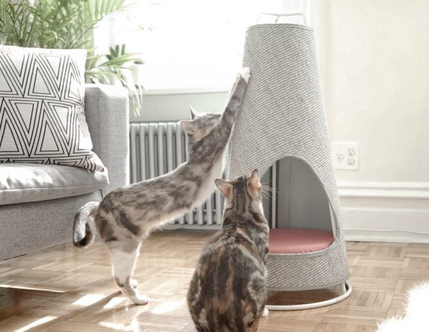 New modern cat product the cone by wiski - Modern cat scratcher ...