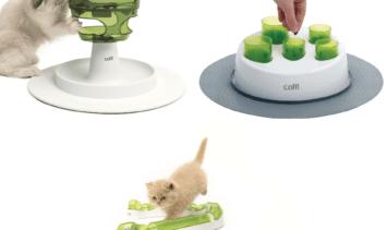 Trio of Catit Senses Toys 1 Senses 2.0 Play Circuit 1 Food Tree and 1 The Digger
