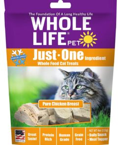 Whole Life Pet Just One-Single Ingredient Freeze Dried Treats For Cats Pure Chicken Breast 4oz