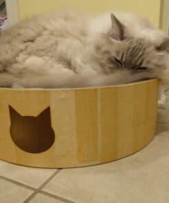 Necoichi Cat Cozy Scratcher Bowl Product Review P1010262