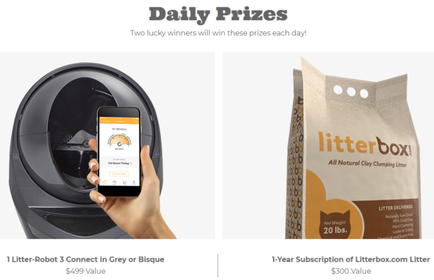 Enter to Win a Free Litter Robot III Litter Robots 12 Days of Christmas Daily Prizes