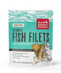 Honest Kitchen Wishes Natural Human Grade Dehydrated Fish Filets Treats for DogsCats 3 oz