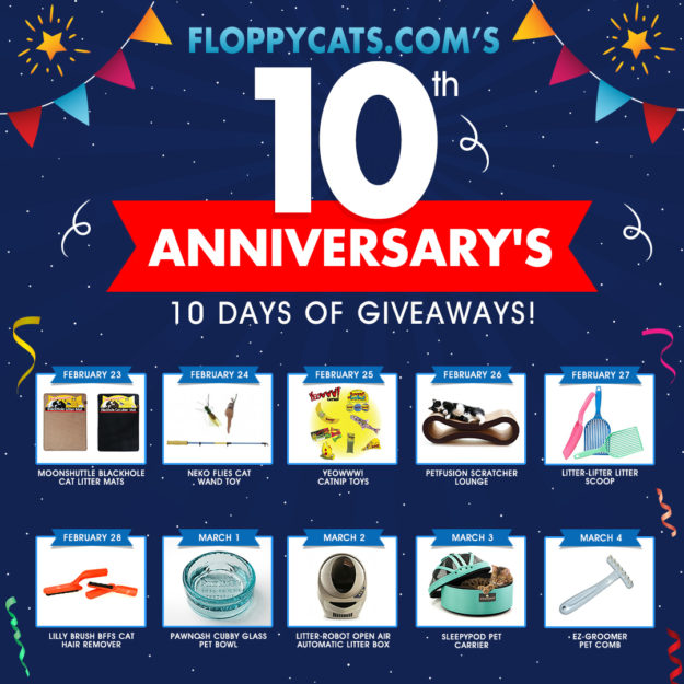 Floppycats 10th Anniversary 10 Days of Giveaways 1080x1080