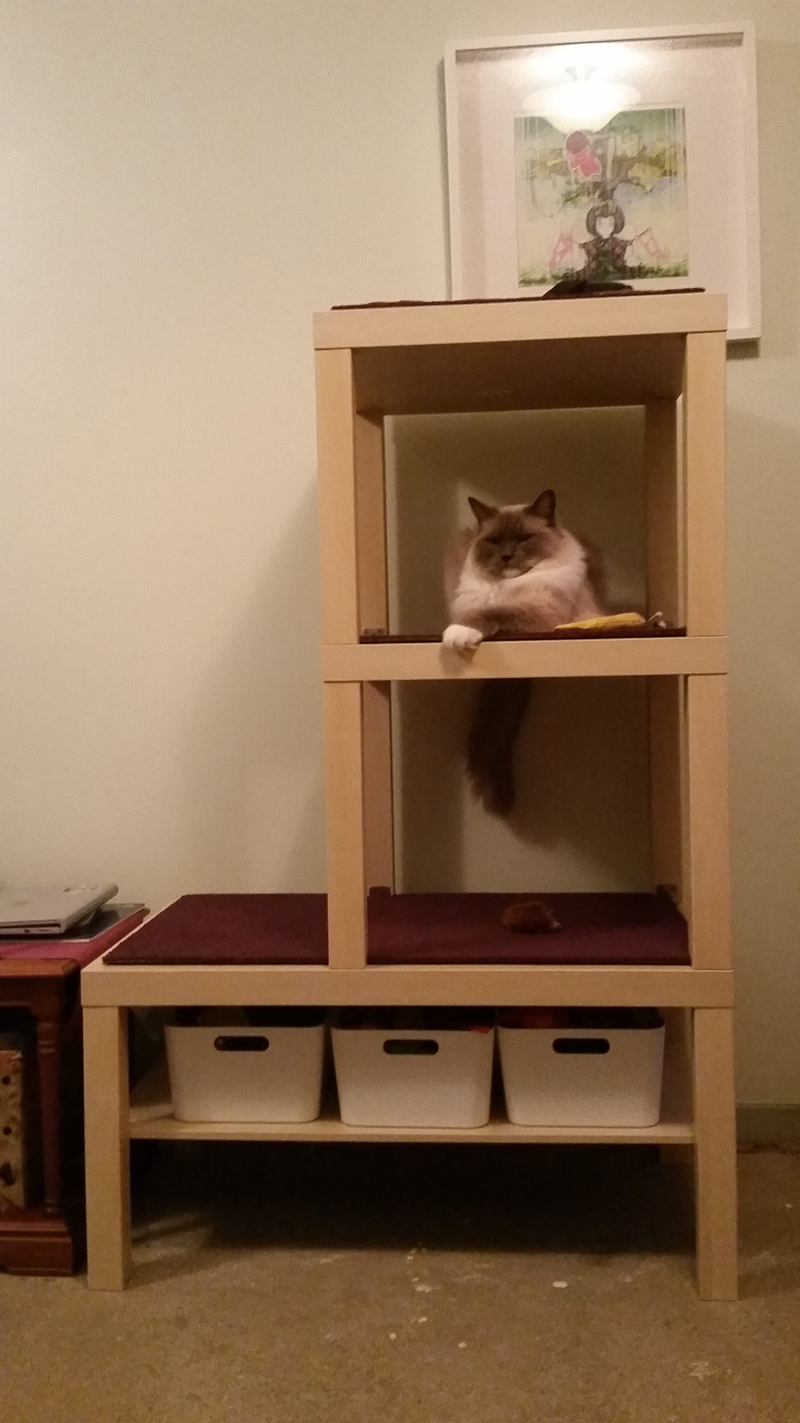 Ikea Furniture Hack Reader Makes A Custom Diy Cat Tree Dog And