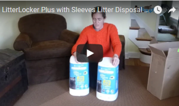 LitterLocker Plus with Sleeves Litter Disposal System Unboxing Video