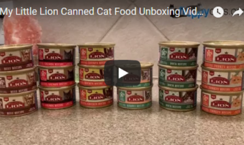 My Little Lion Canned Cat Food Unboxing Video for Product Review - Floppycats
