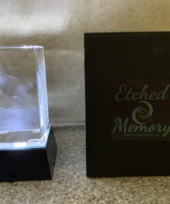 Personalized 3D Engraved Rectangle Photo Block IMG_3386