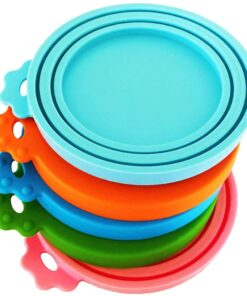 DYBEN Pet Can Covers Universal BPA Free & Dishwasher Safe Silicone Pet Food Can Lid Covers