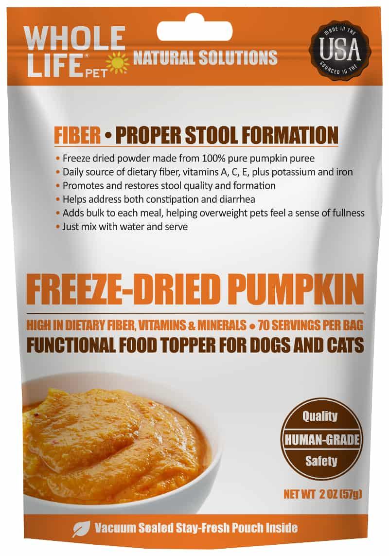 Whole Life Pet Products Freeze Dried Pumpkin 2oz front