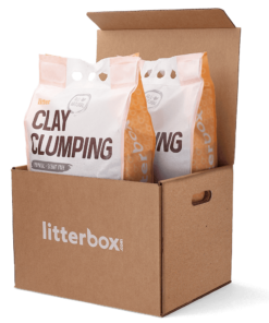 Litterbox com clay clumping cat litter delivery subscription