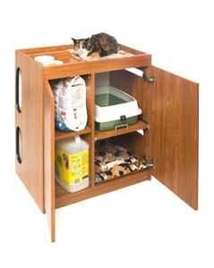 kitty litter cabinet catbox litter box enclosure modular